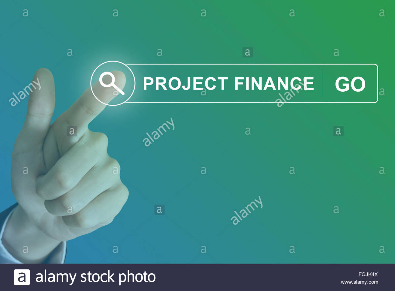 business hand clicking project finance button on search toolbar 1300x956