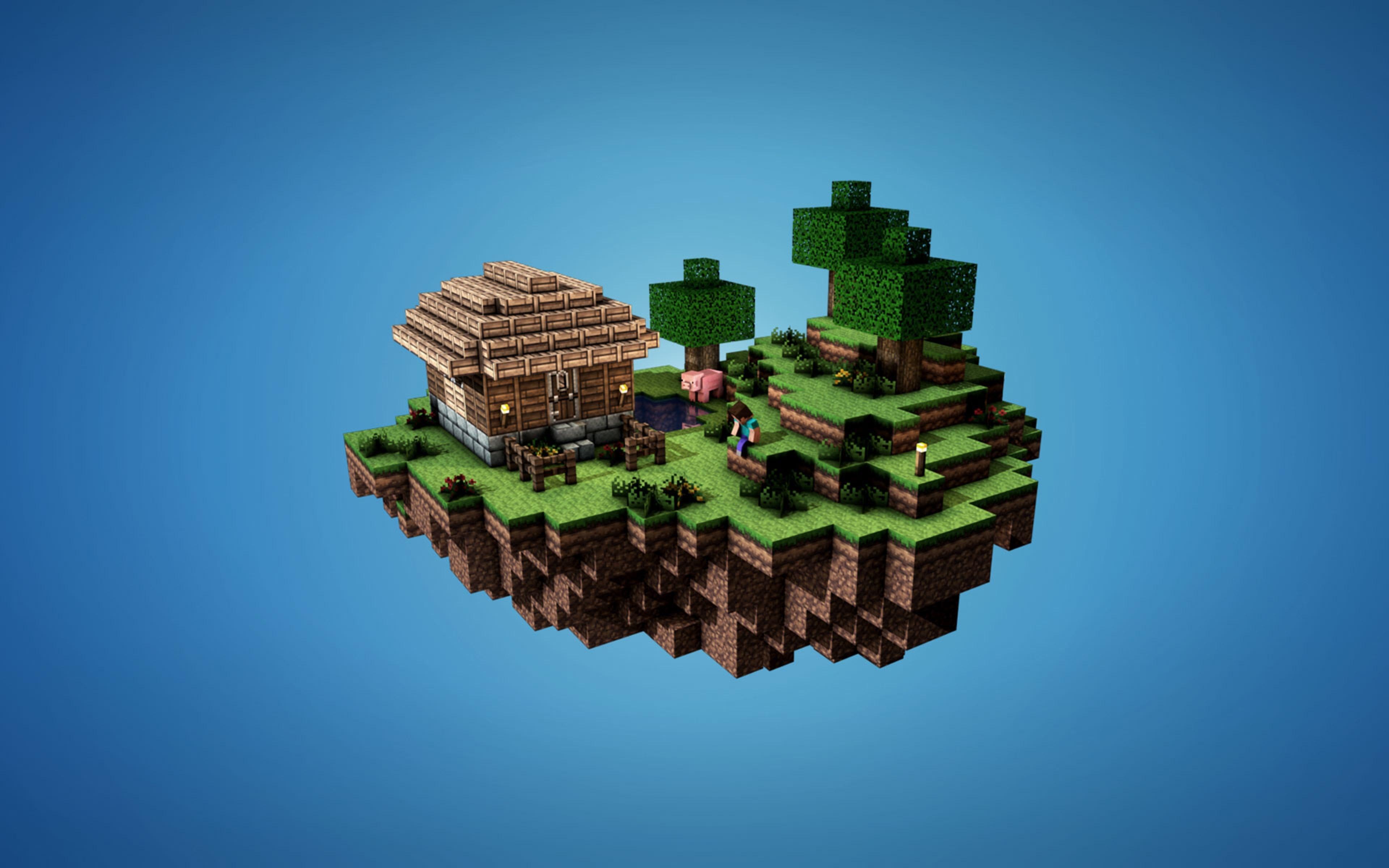 Minecraft Box 3D Game Wallpaper Images HD 8788 Wallpaper 3840x2400