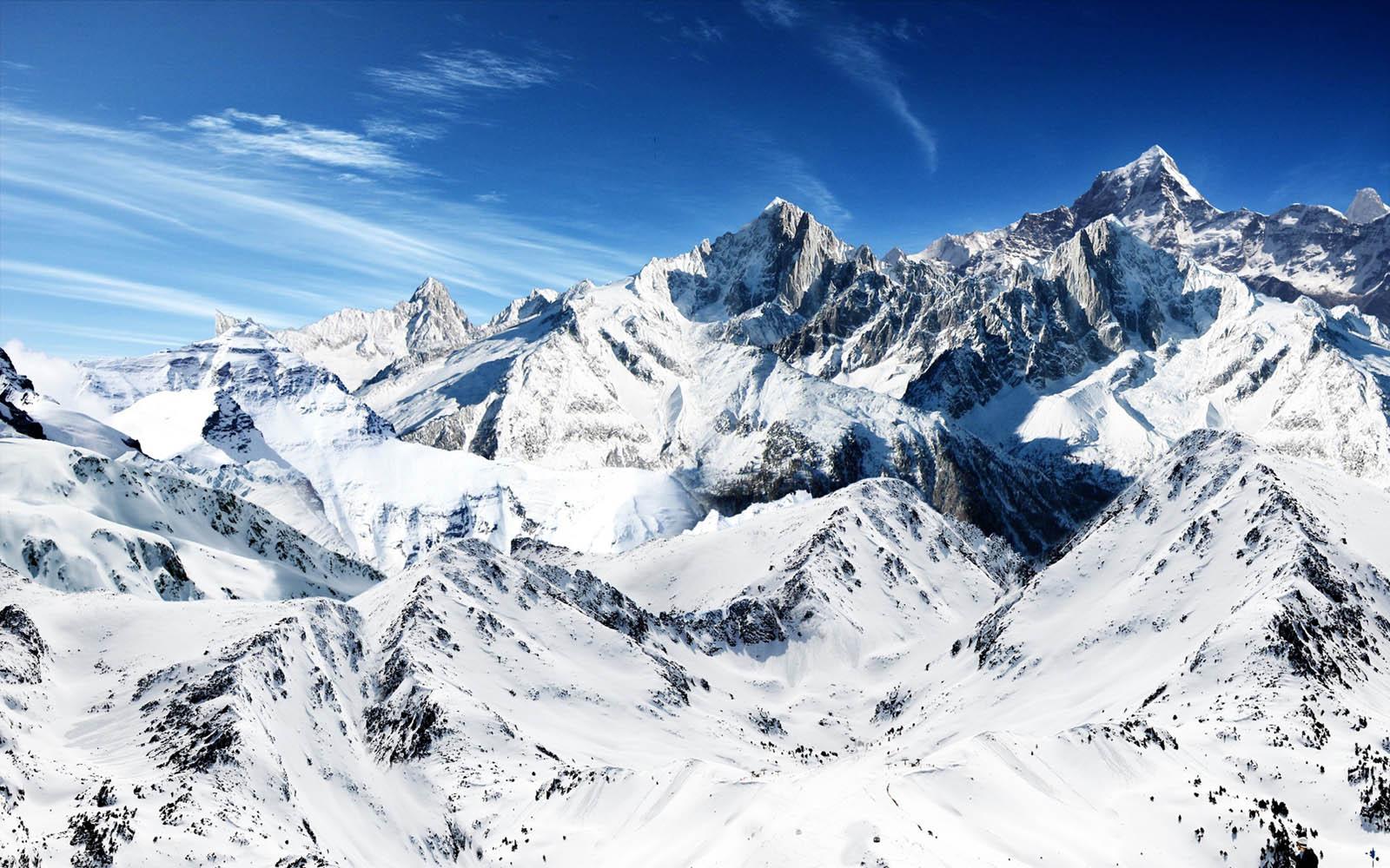 Snow Mountains Wallpapers Desktop Wallpaper 1600x1000