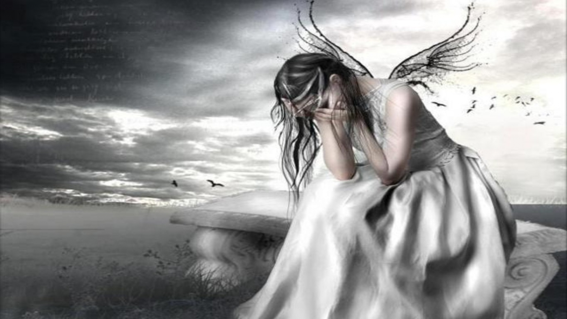 Crying Angel Wallpaper WallpaperSafari