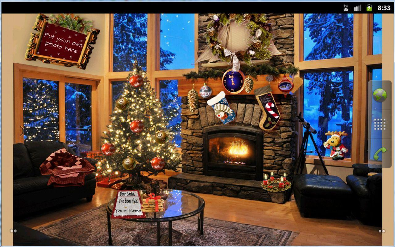 Christmas Fireplace Wallpapers 1280x800