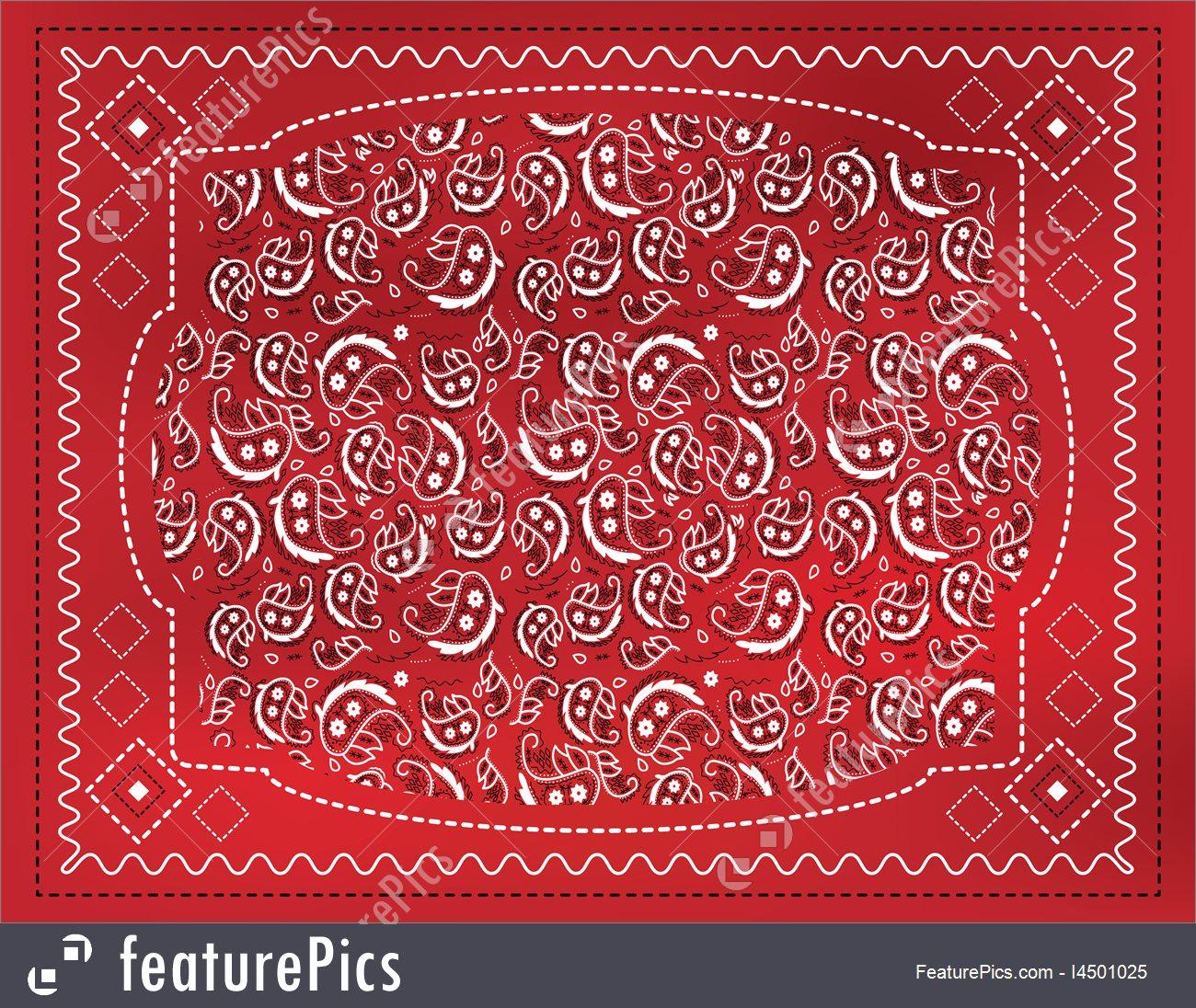 Red Paisley Handkerchief Stock Illustration I4501025 at FeaturePics 1300x1096