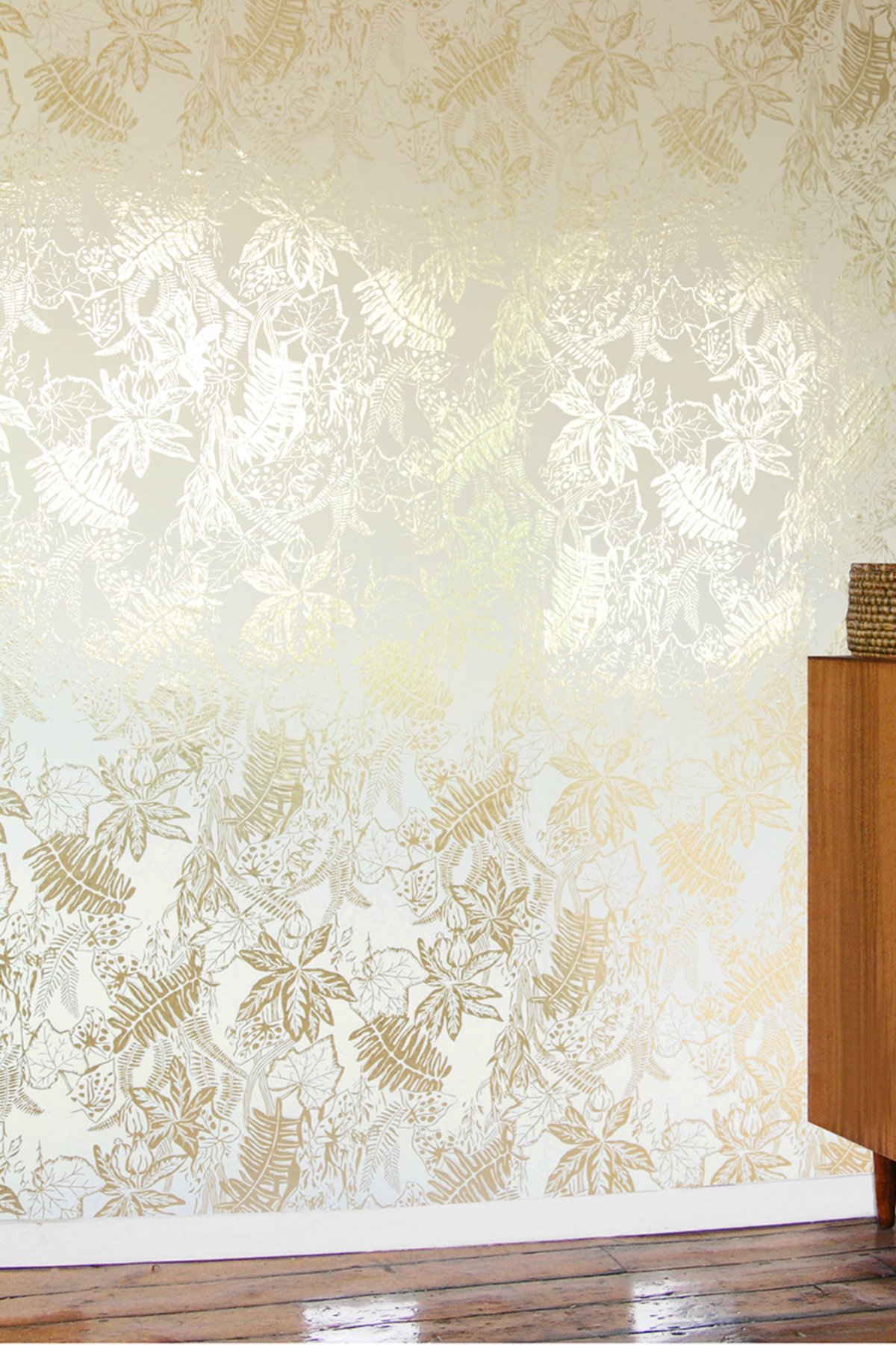Hothouse Wallpaper   Cream and Gold Monument Interiors 1200x1800