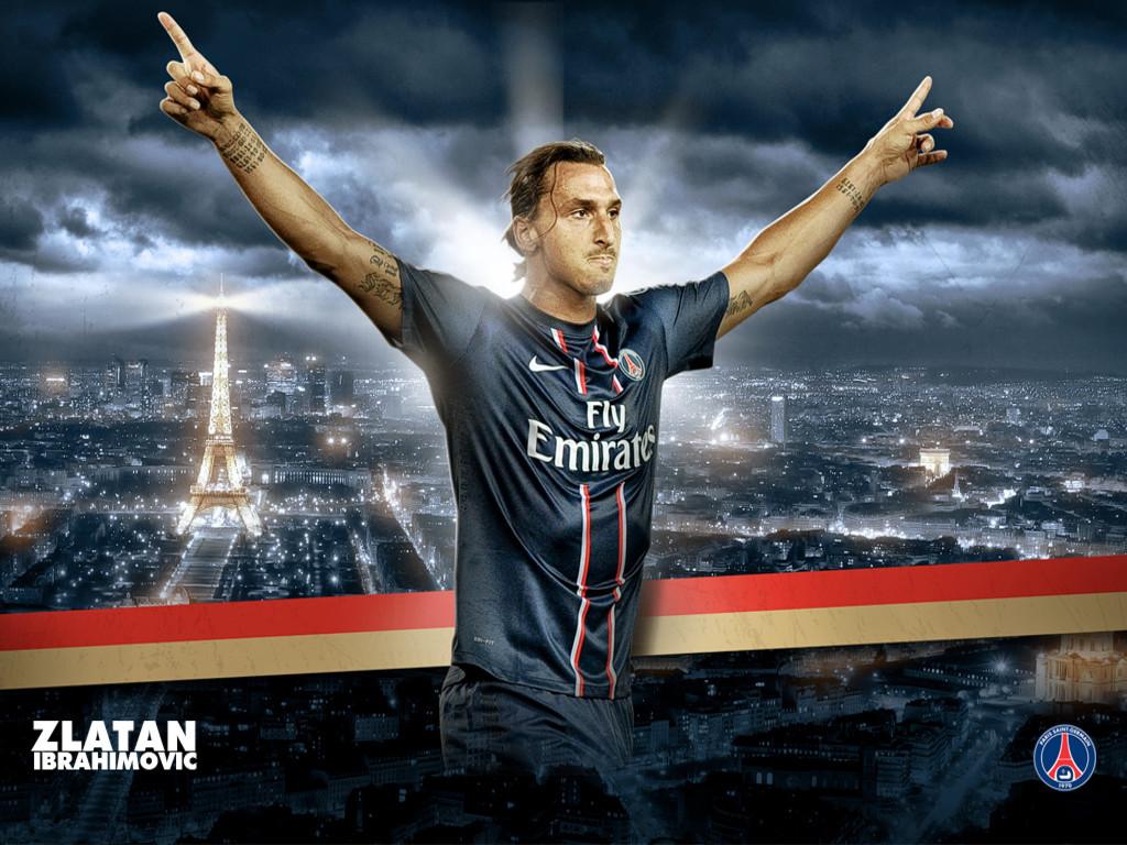 Zlatan Ibrahimovic PSG HD Wallpaper 1024x768