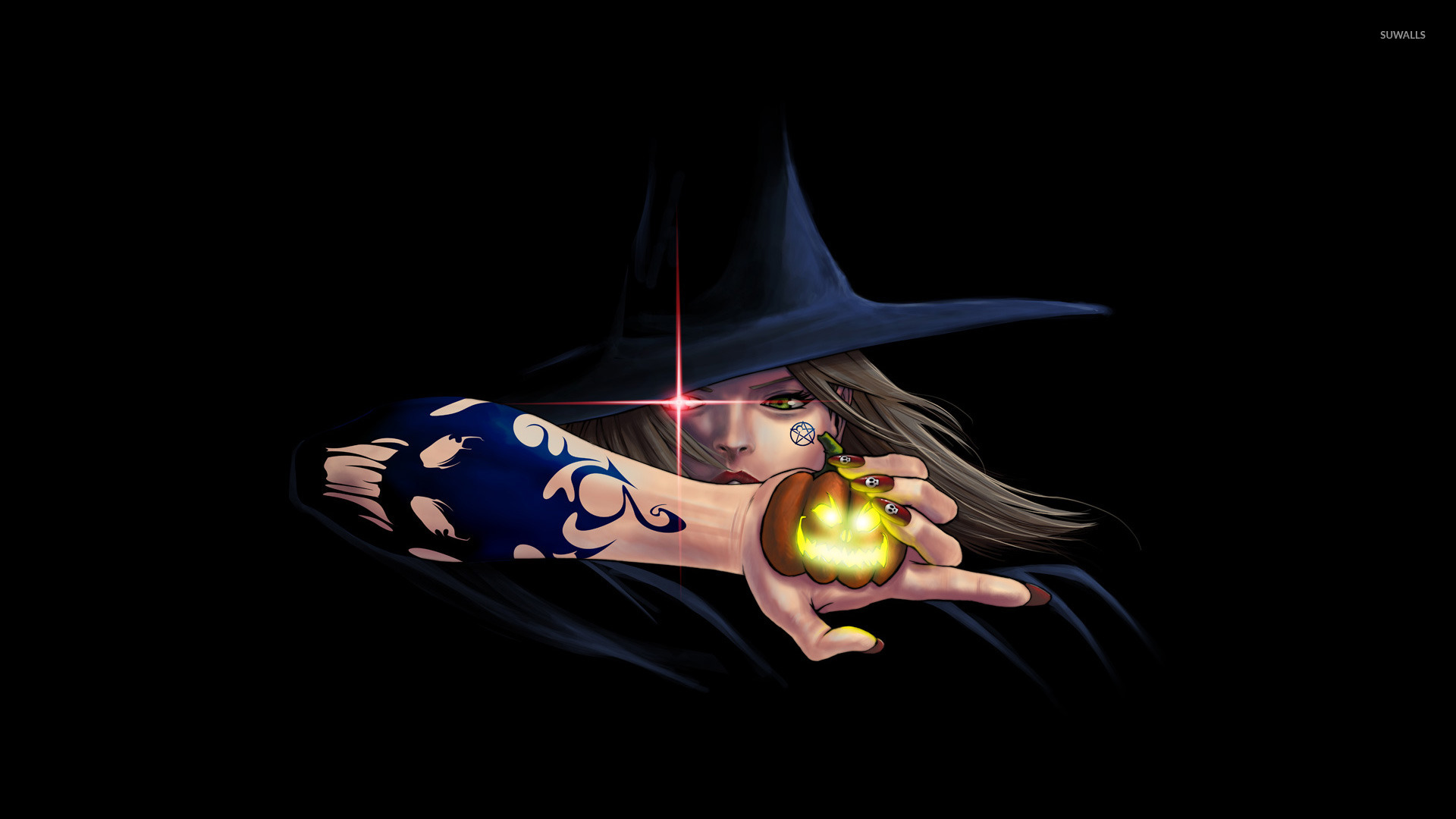 Wicked witch wallpaper   Holiday wallpapers   24367 1366x768