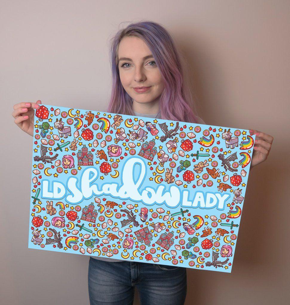 LDShadowLady x Enfu Blue Poster L a D shadow lady in 2019 971x1024