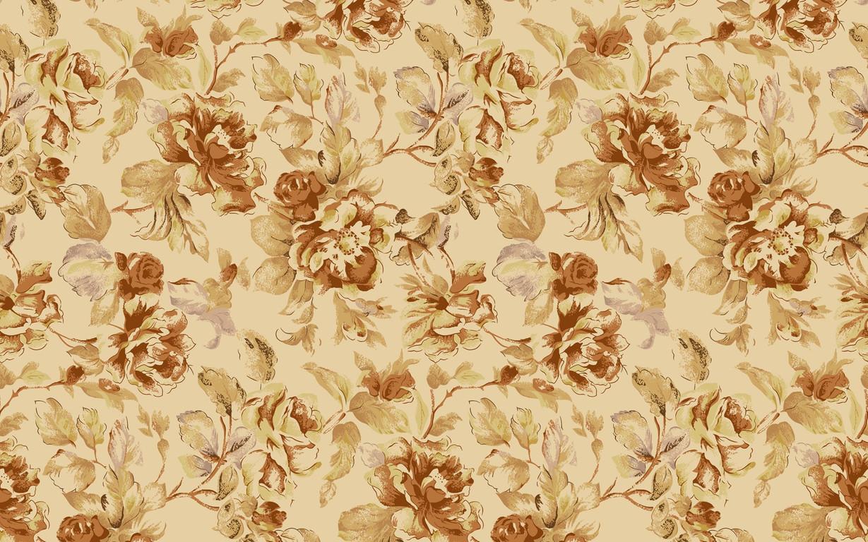 Download Vintage floral pattern wallpaper 1229x768