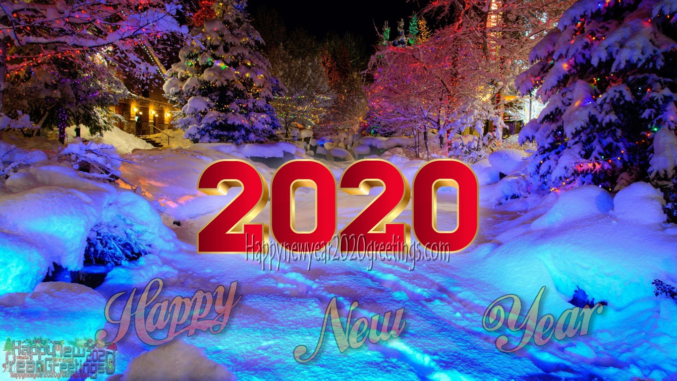 Happy New Year 2020 Nature HD Images Download   New Year 2020 1366x768