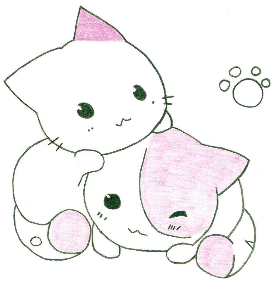 40 Cute Anime Cat Wallpaper On Wallpapersafari