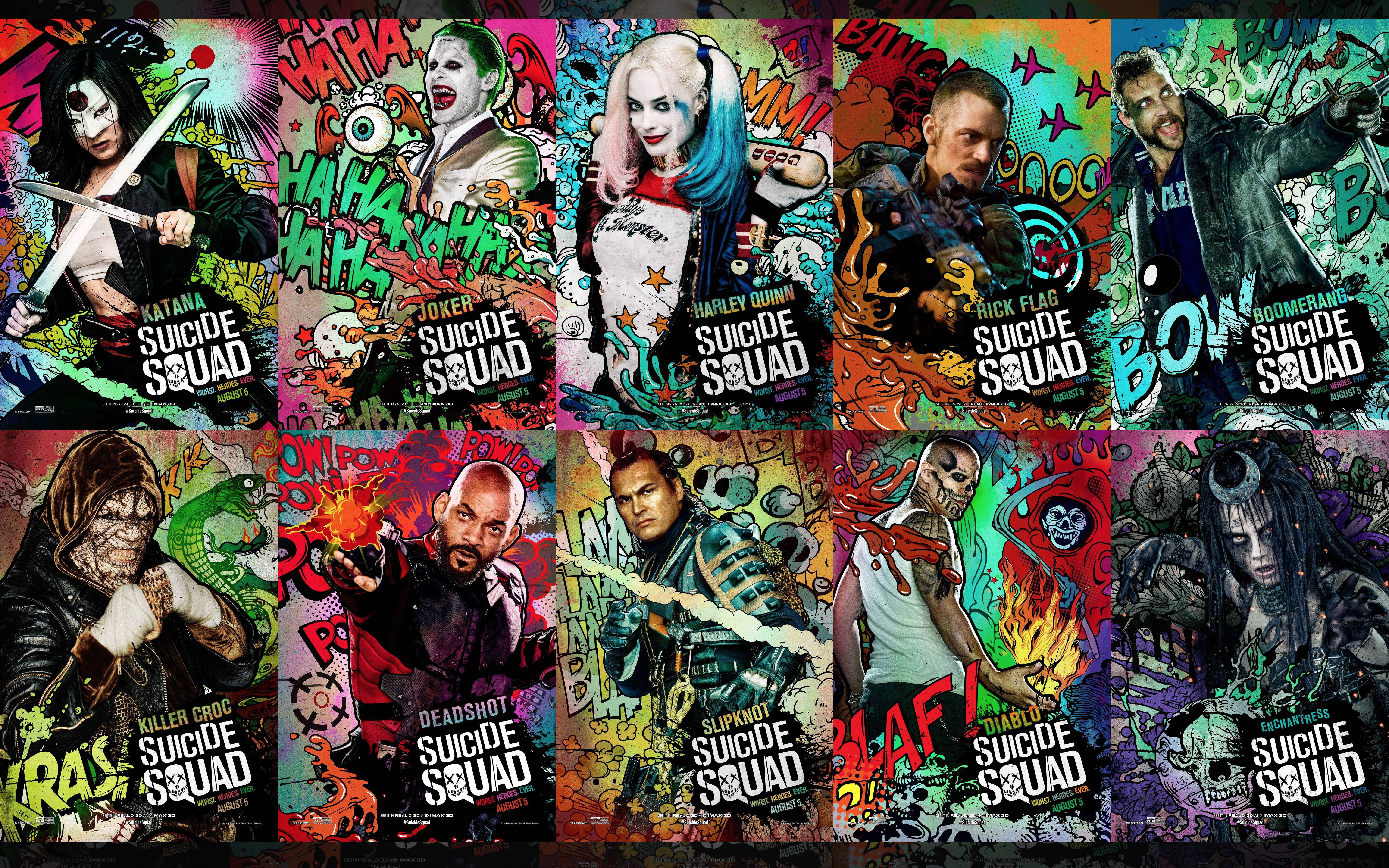 Ultra Resolution] Suicide Squad Compilation Wallpaper 6000x3750 6000x3750
