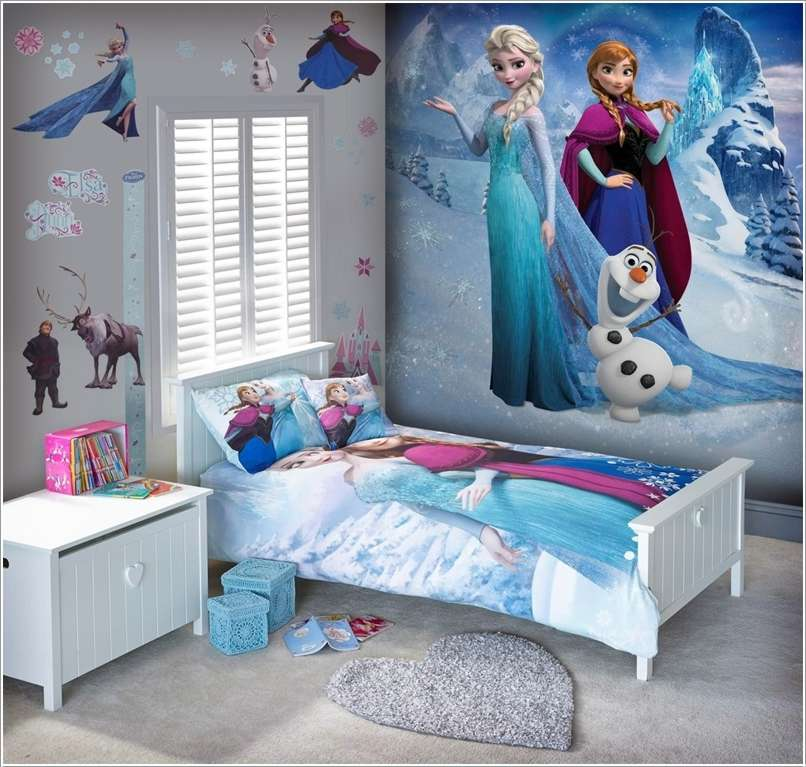 Amazing Interior Design 10 Frozen Movie Inspired Kids Room Decor 806x767