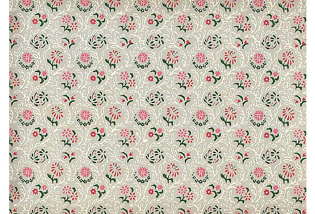 1940s Red Pink Wallpaper 60 Sq Ft One Kings Lane 620x422