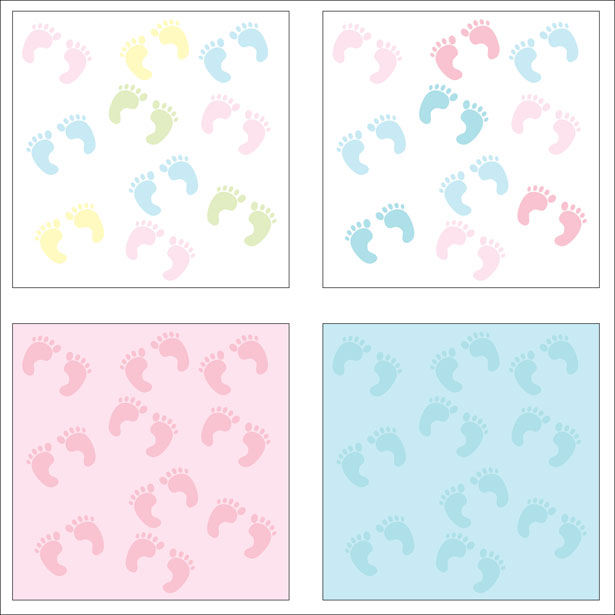 Baby Girl Footprint Backgrounds 615x615