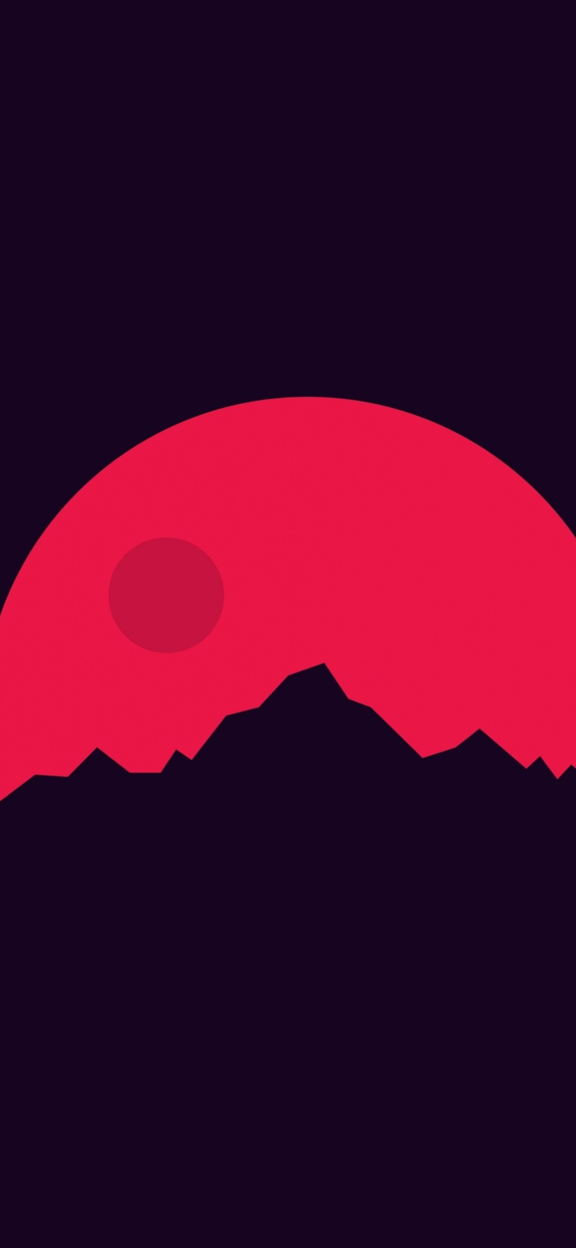 Mountains Mars minimal 1125x2436 wallpaper Ava Art 1125x2436