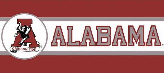 Alabama Crimson Tide Tall Wallpaper Border 550x245