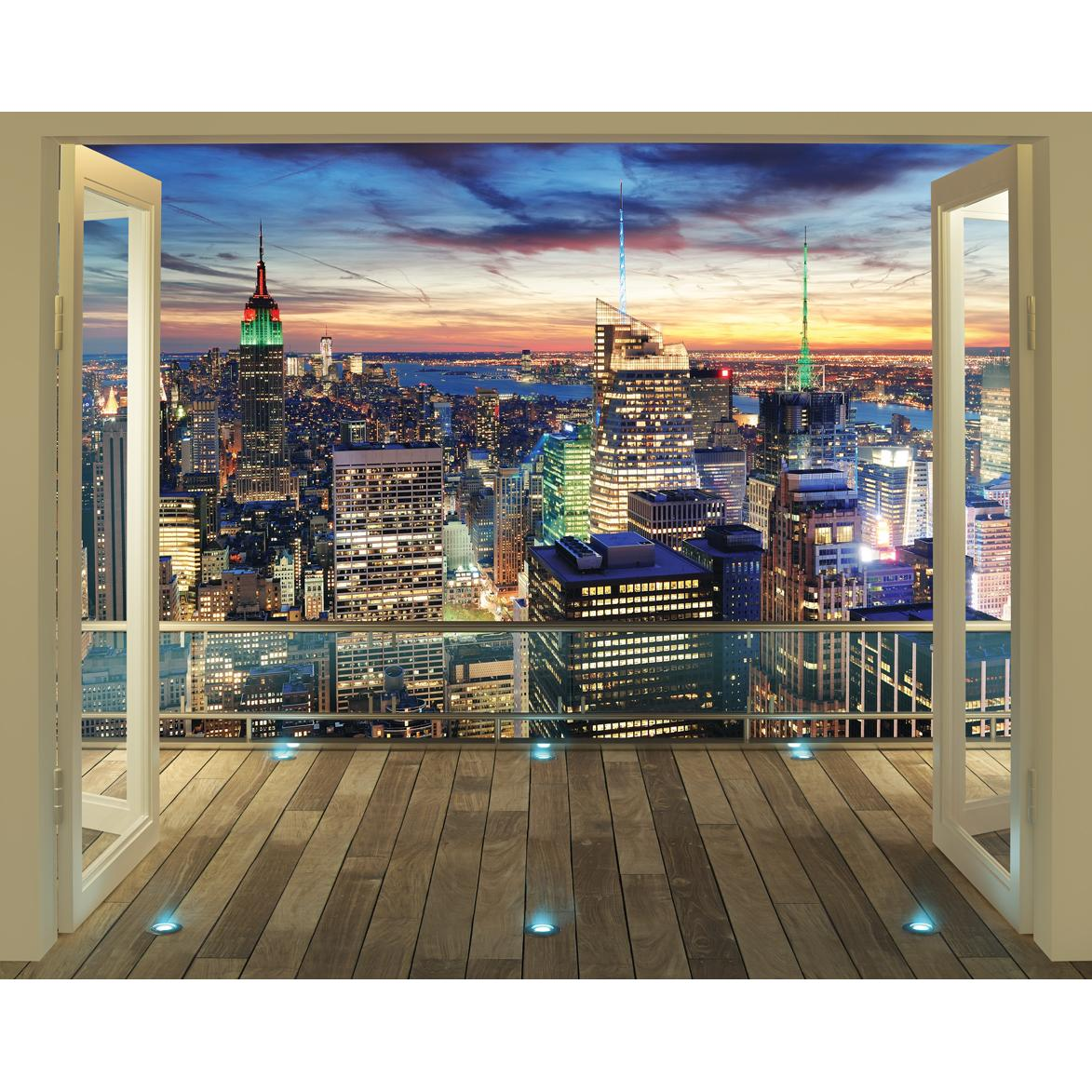 Walltastic York City Skyline Wallpaper Mural Next Day Delivery 1173x1173