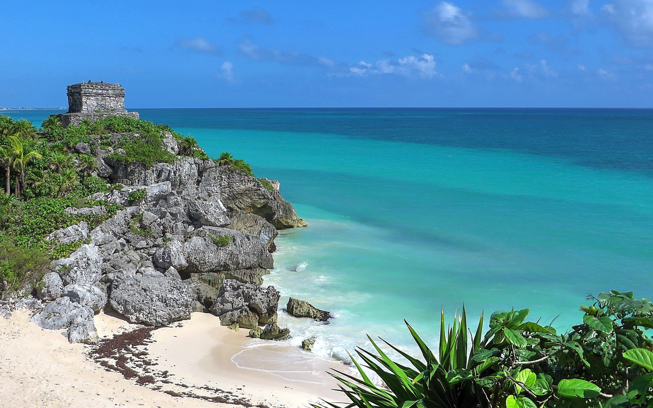 Tulum Maya civilization HD Wallpapers Desktop and Mobile 2560x1600