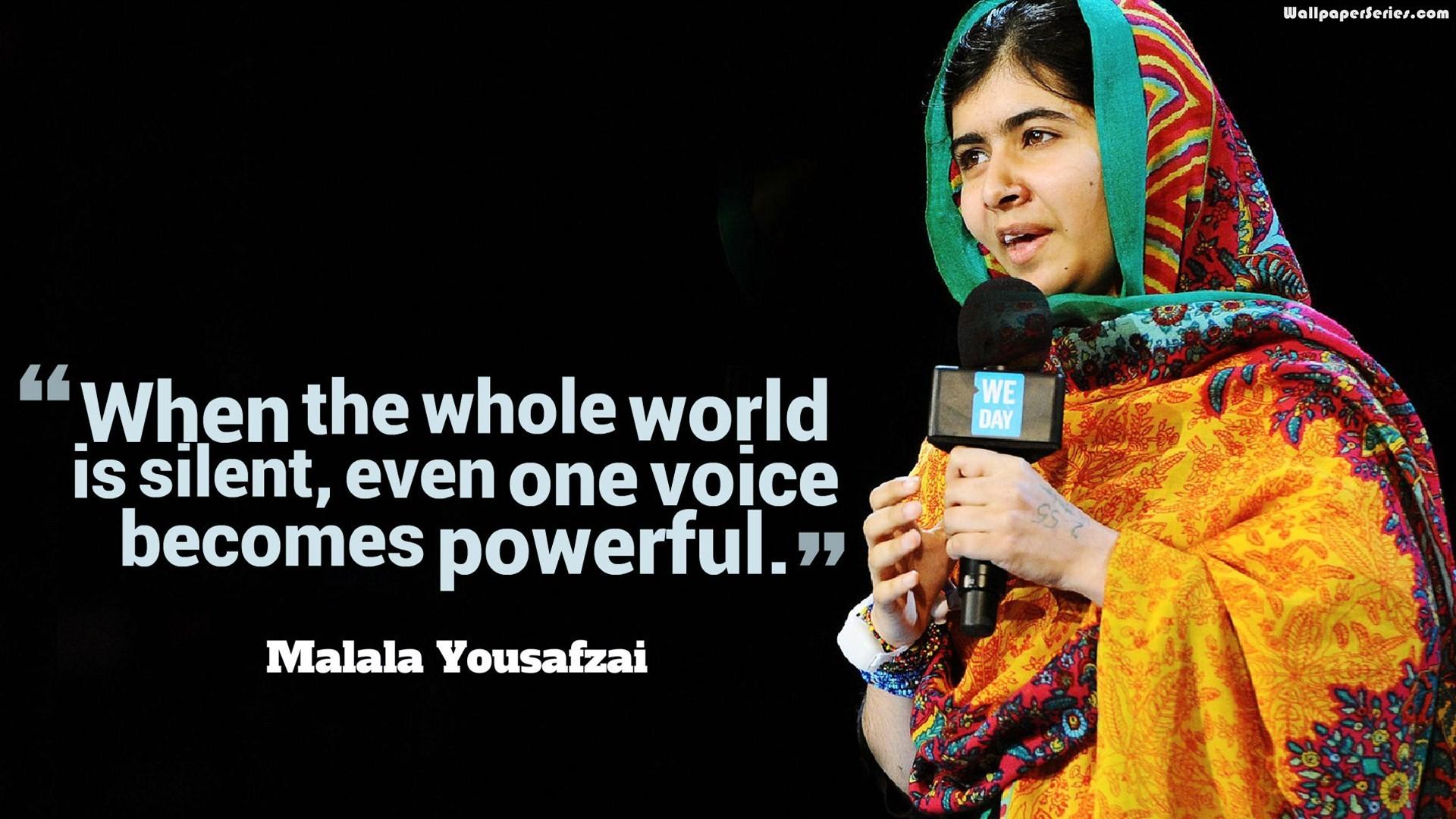 Malala Yousafzai Silent Quotes Wallpaper 05819   Baltana 1920x1080