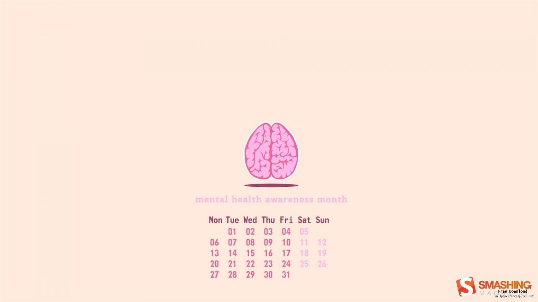 mental health awareness day calendar desktop wallpapers wallpaper 1440x810