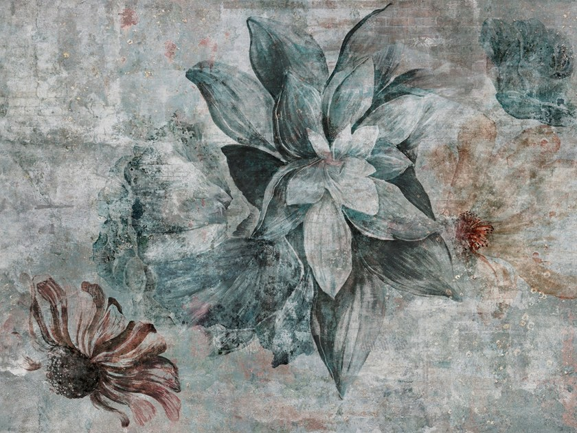 Digital printing wallpaper with floral pattern AVALON Modern 840x630