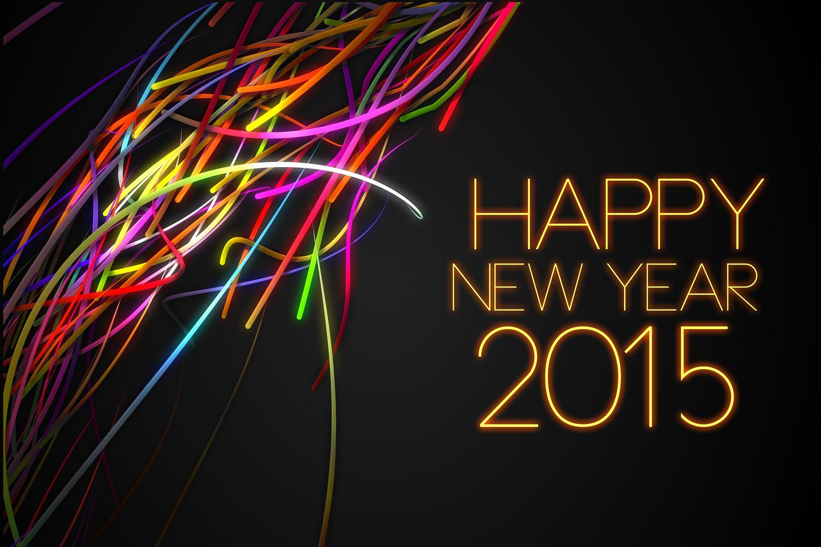 HD 3D Wallpapers HD Happy New Year 2015 Cool Abstract 1600x1067