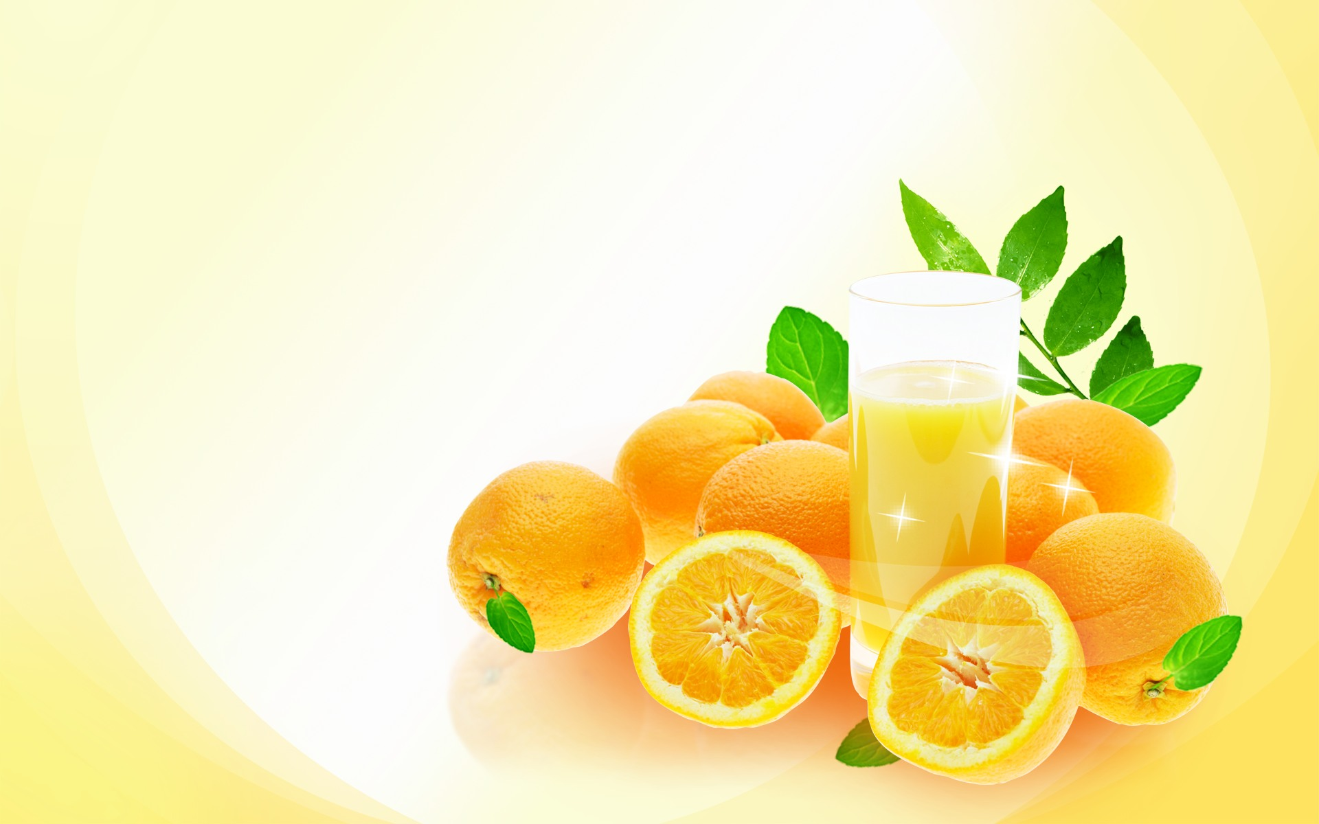 Download wallpaper orange juice photo Oranges orange 1920x1200