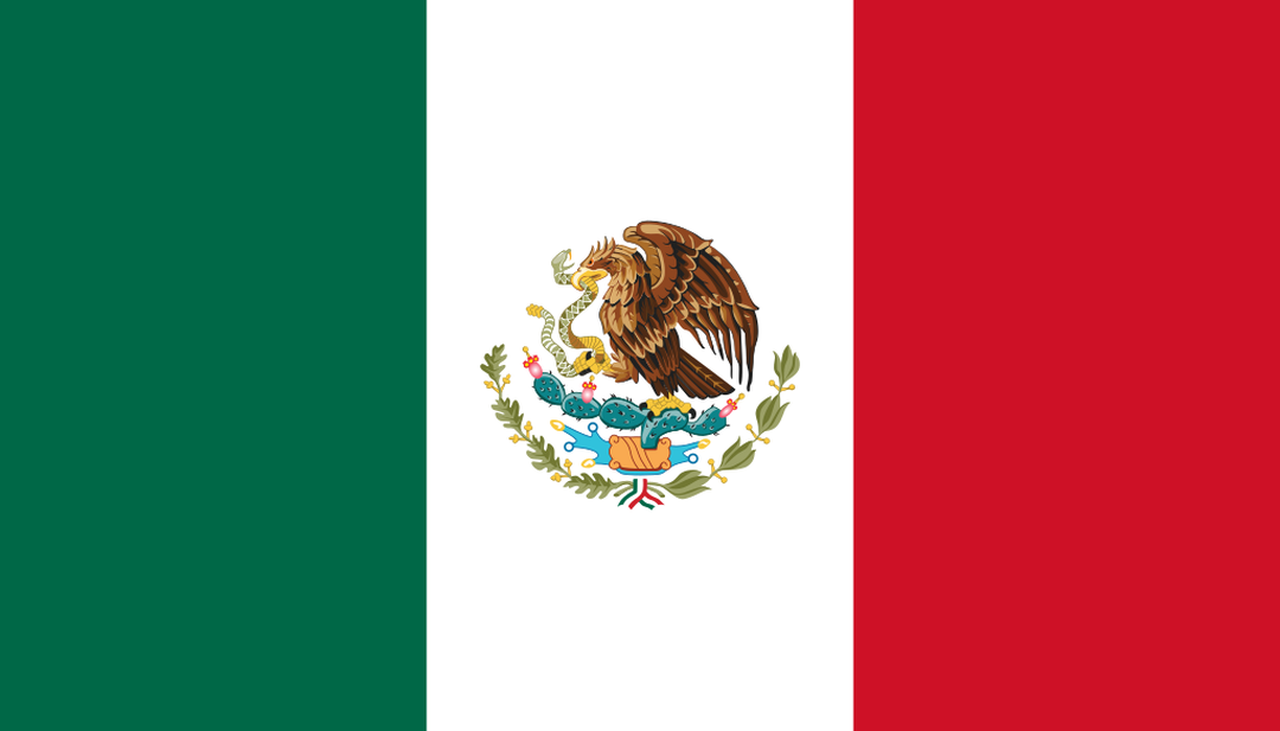 Mexican Flag Wallpaper HD For Download 1280x731