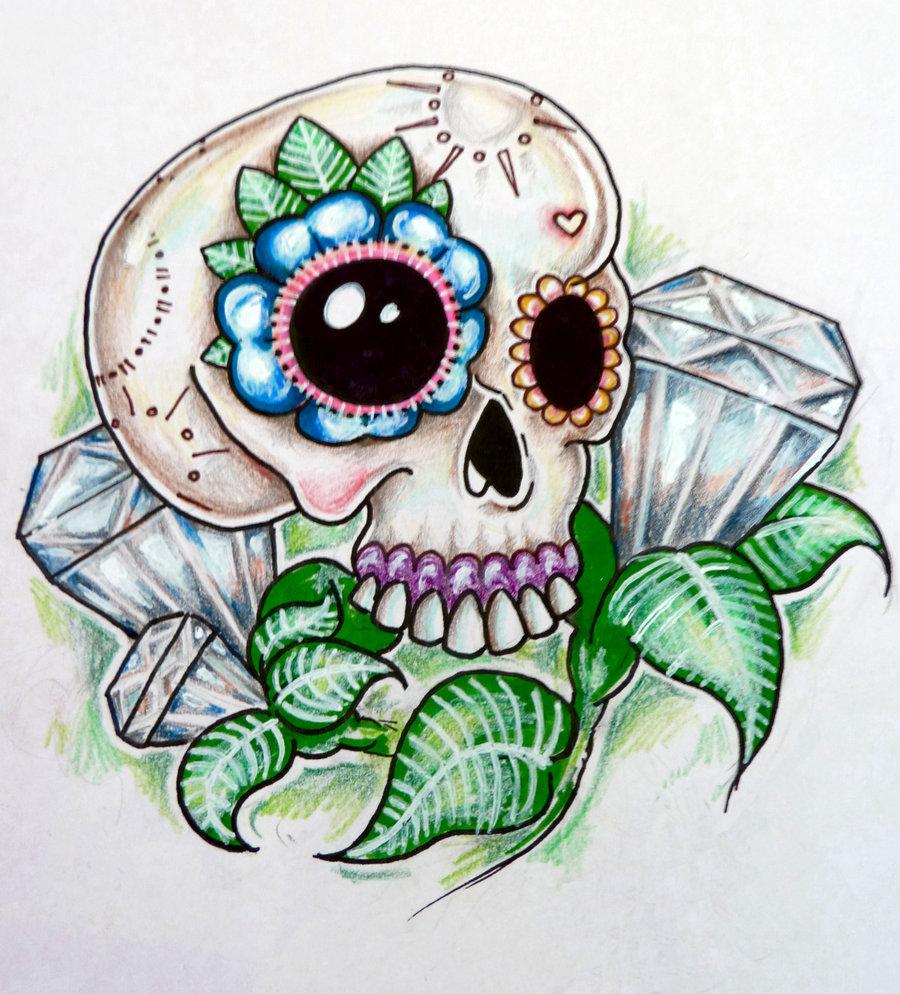 45+ Sugar Skull Wallpaper Border on WallpaperSafari