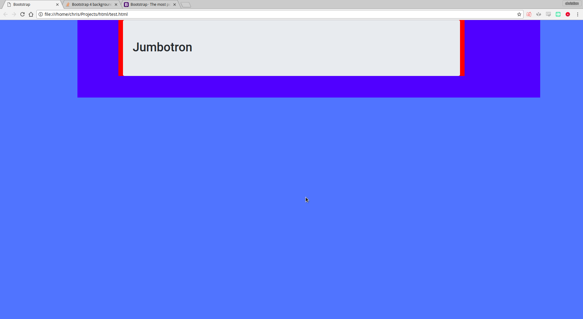 Bootstrap 4 background color looks completely different on Chrome 1920x1050