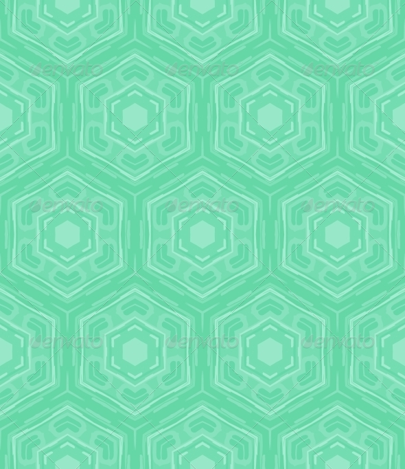 Hexagon geometric pattern in mint green and tropical aqua blue colors 590x682