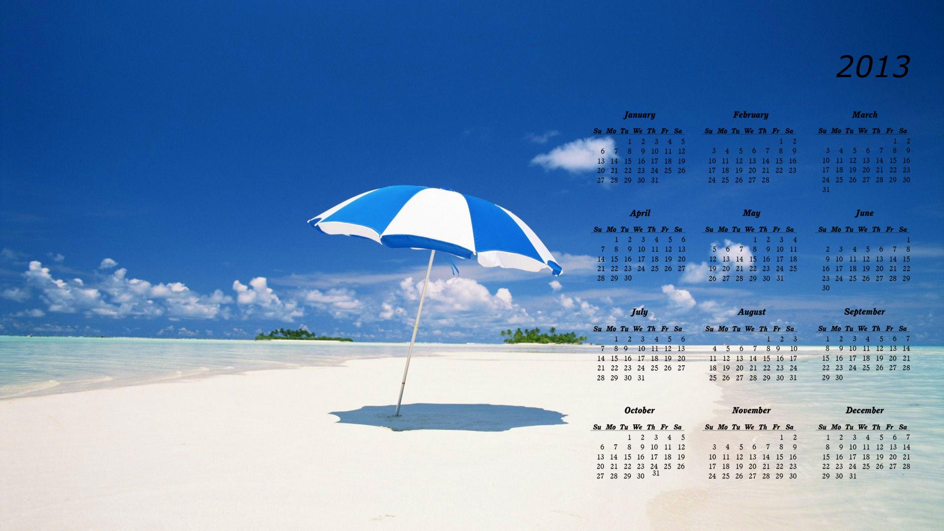 2013 calendar desktop wallpaper 2 1920x1080