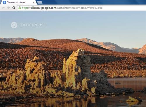 Google Chromecast Screensaver slideshow 500x368