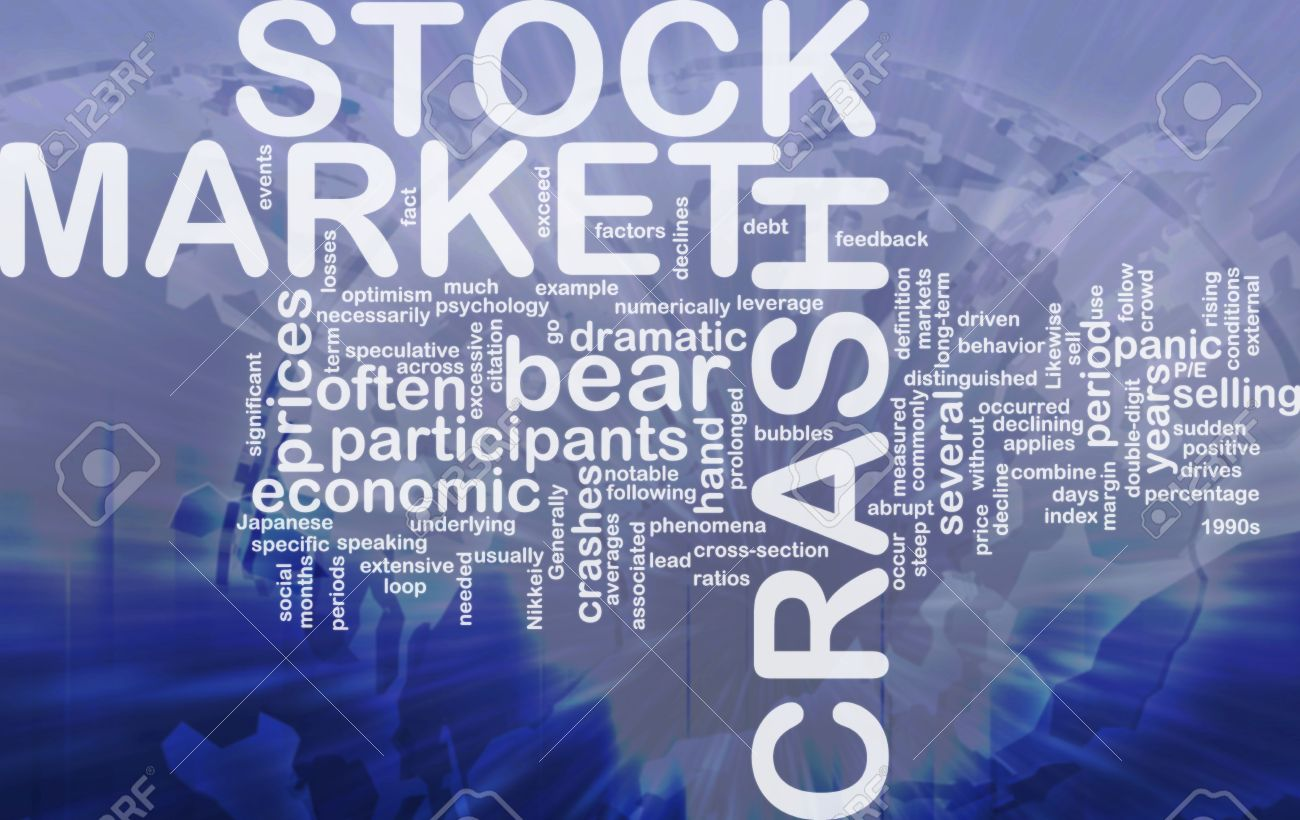 Background Concept Wordcloud Illustration Of Stock Market Crash 1300x820