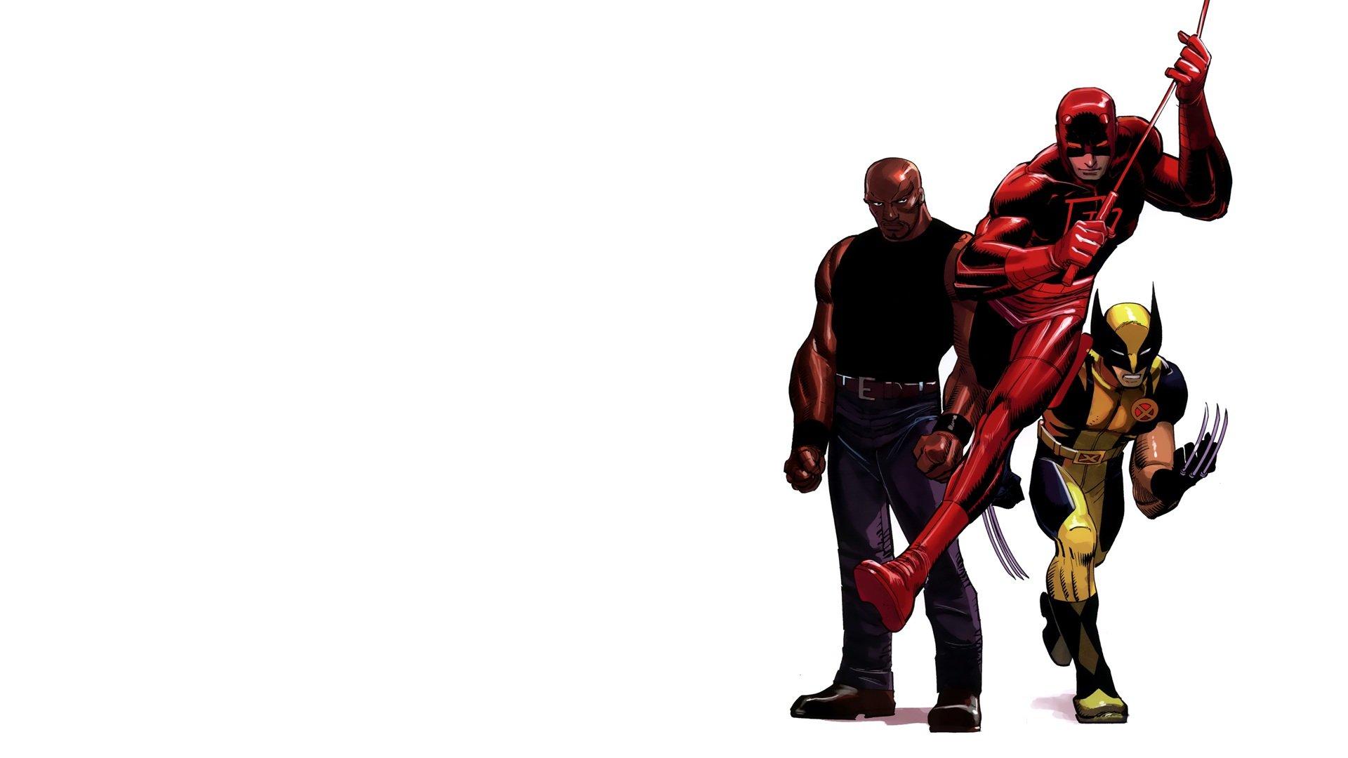 Comics Wolverine Daredevil Marvel Comics simple background 1920x1080