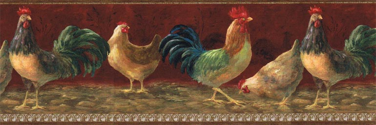 Details about KITCHEN COUNTRY CHICKENHEN wallpaper border TH29004B 770x256
