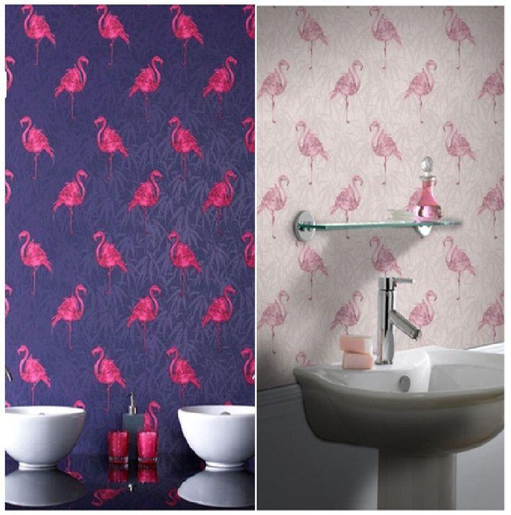 Flamingo wallpaper for Photobooth GRAHAM AND BROWN LUXURY VINYL 736x742