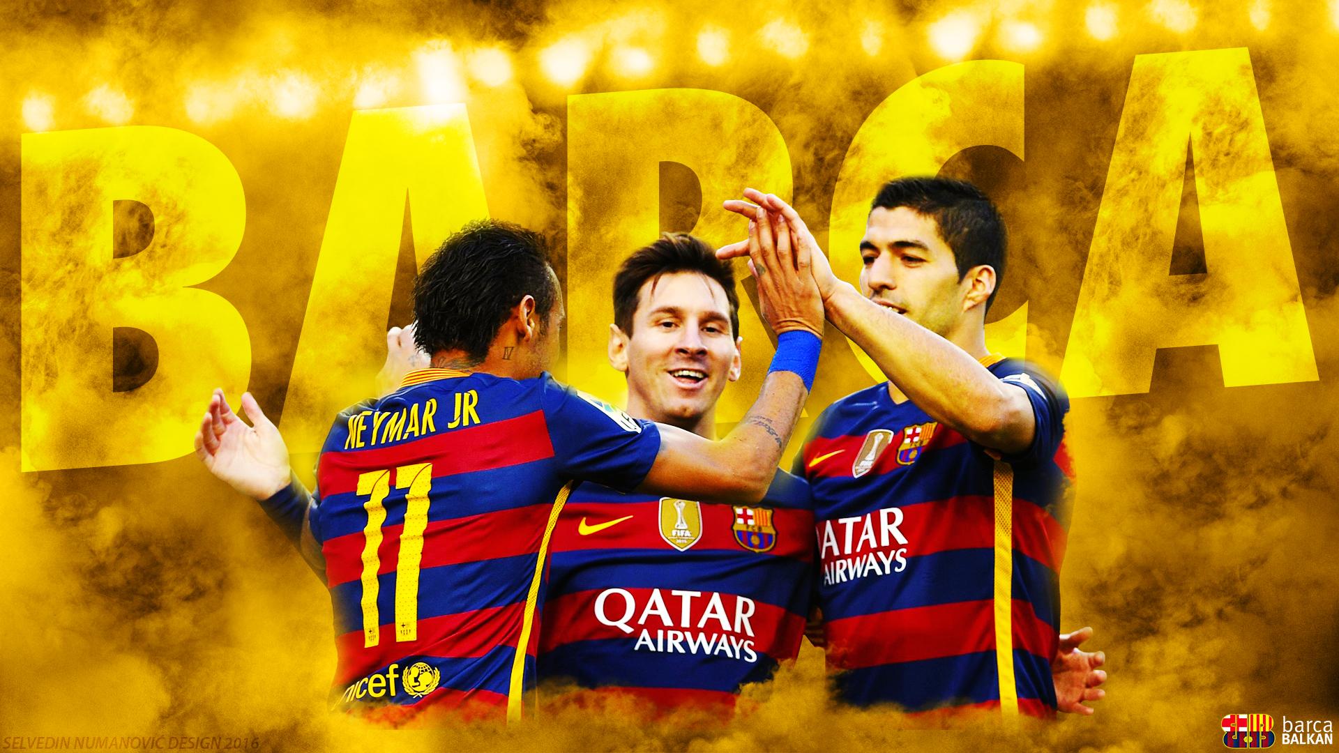 Messi Suarez Neymar 2016   HD WALLPAPER by SelvedinFCB 1920x1080