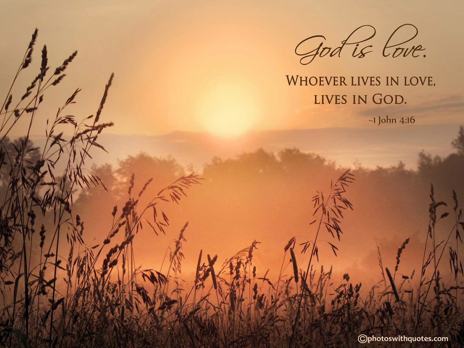 God is love   1600x1200 Wallpaper 1600x1200