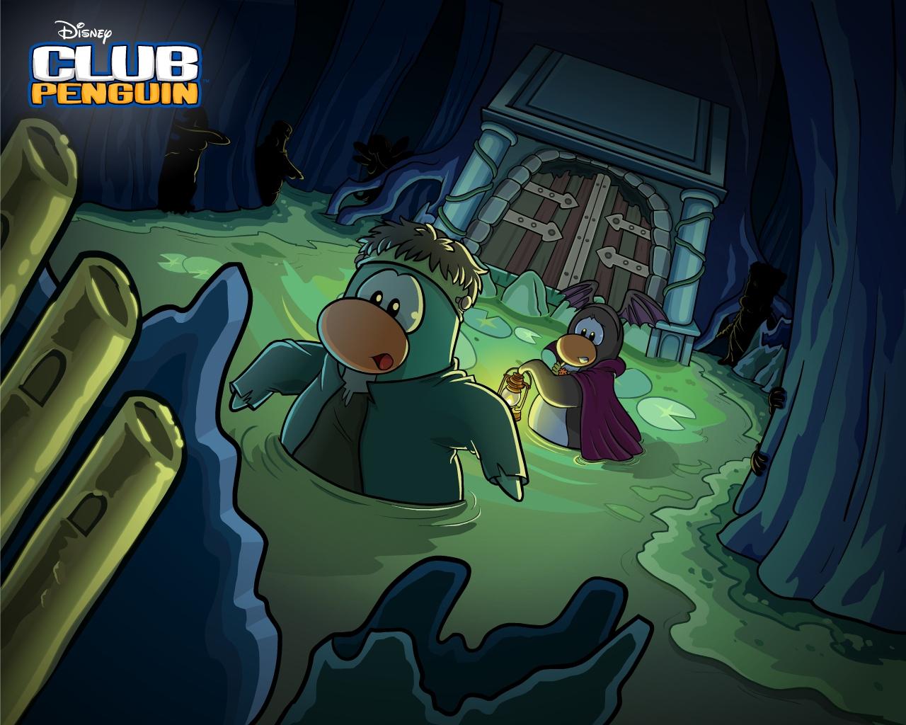 New Club Penguin Halloween Dark Chamber Wallpaper Halloween 1280x1024