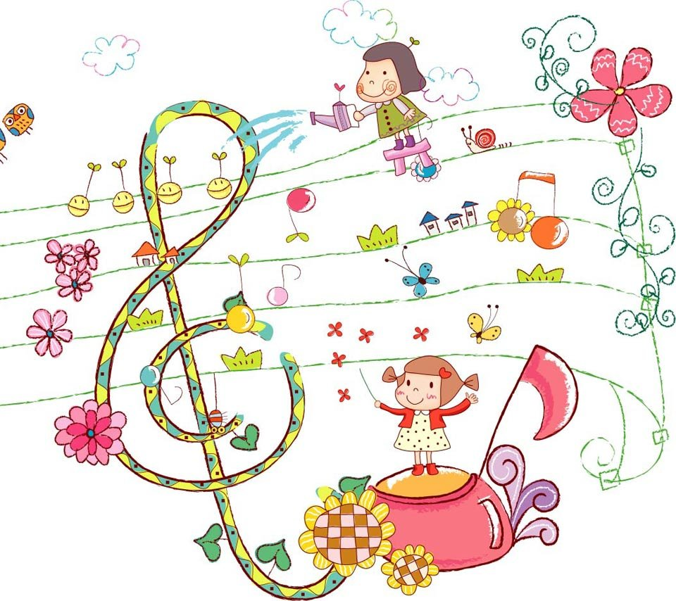 music cartoon cute note clipart notes kid cartoons flower clip children letter wallpapersafari wallpapers frula garden festival library clipground code