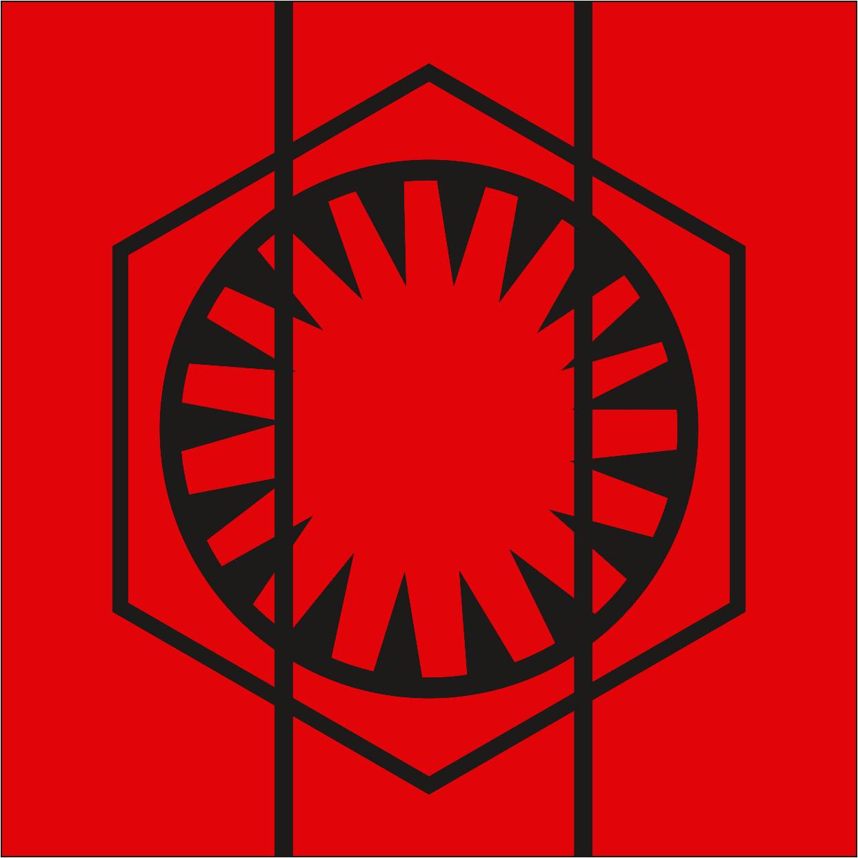 Star Wars The Force Awakens The First Order Logo by OvidiuMUCA on 1244x1244