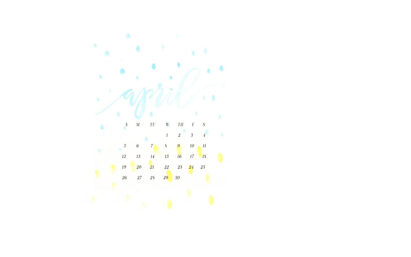 she makes stuff april 2015 desktop calendar wallpaper 1600x1000