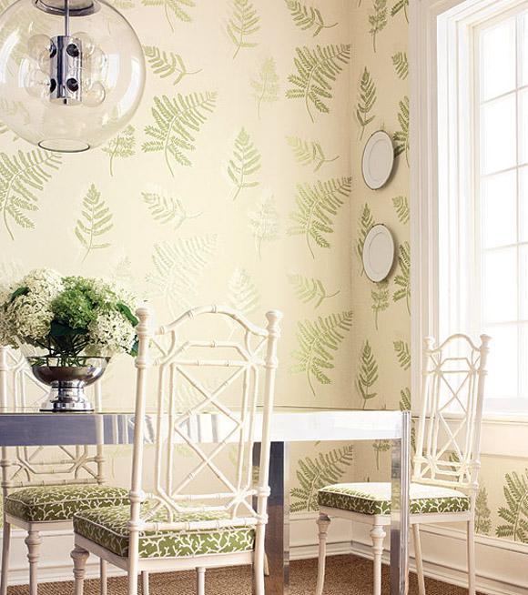 Interior Design Ideas Using Wallpaper 580x654