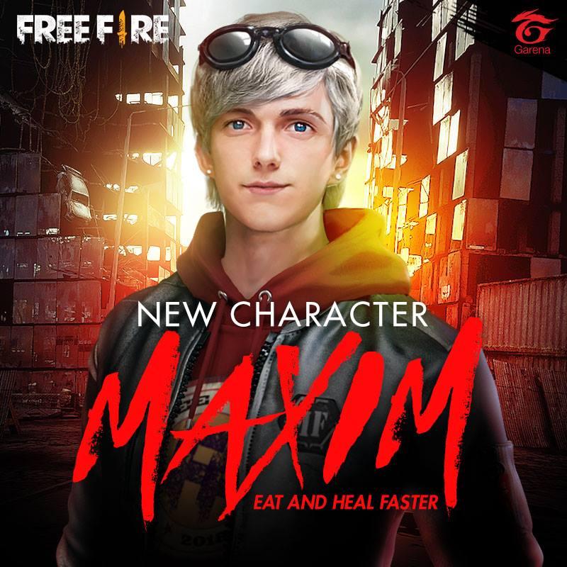 download New Character Maxim 3 Maxim Garena Fire [800x800 800x800