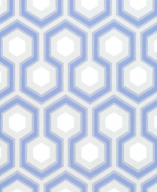 Hicks Hexagon Wallpaper Grey blue and white hexagon design 534x654