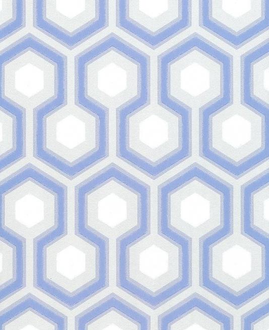 Hicks Hexagon Wallpaper Grey blue and white hexagon design 534x654