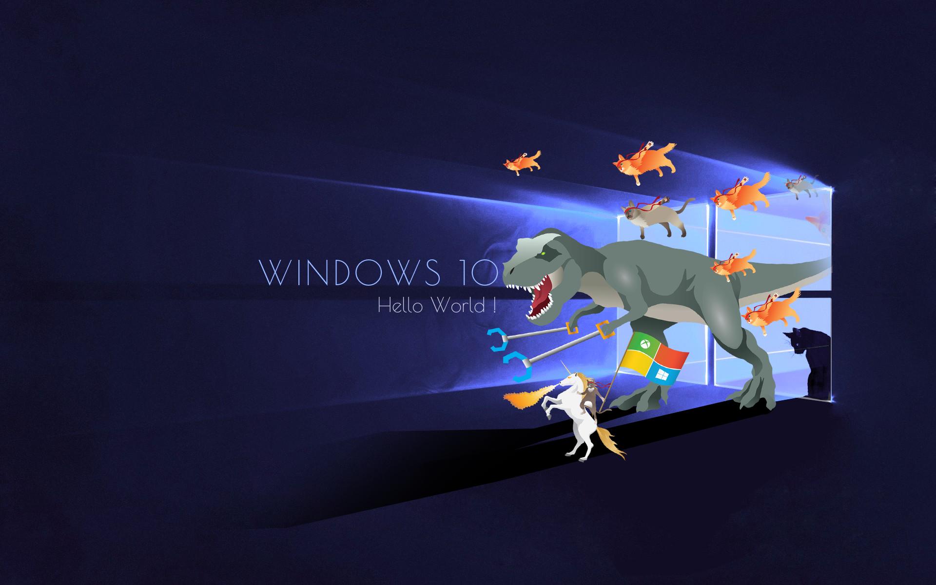 windows,  microsoft, anniversary, update, кот  № 1182248 бесплатно