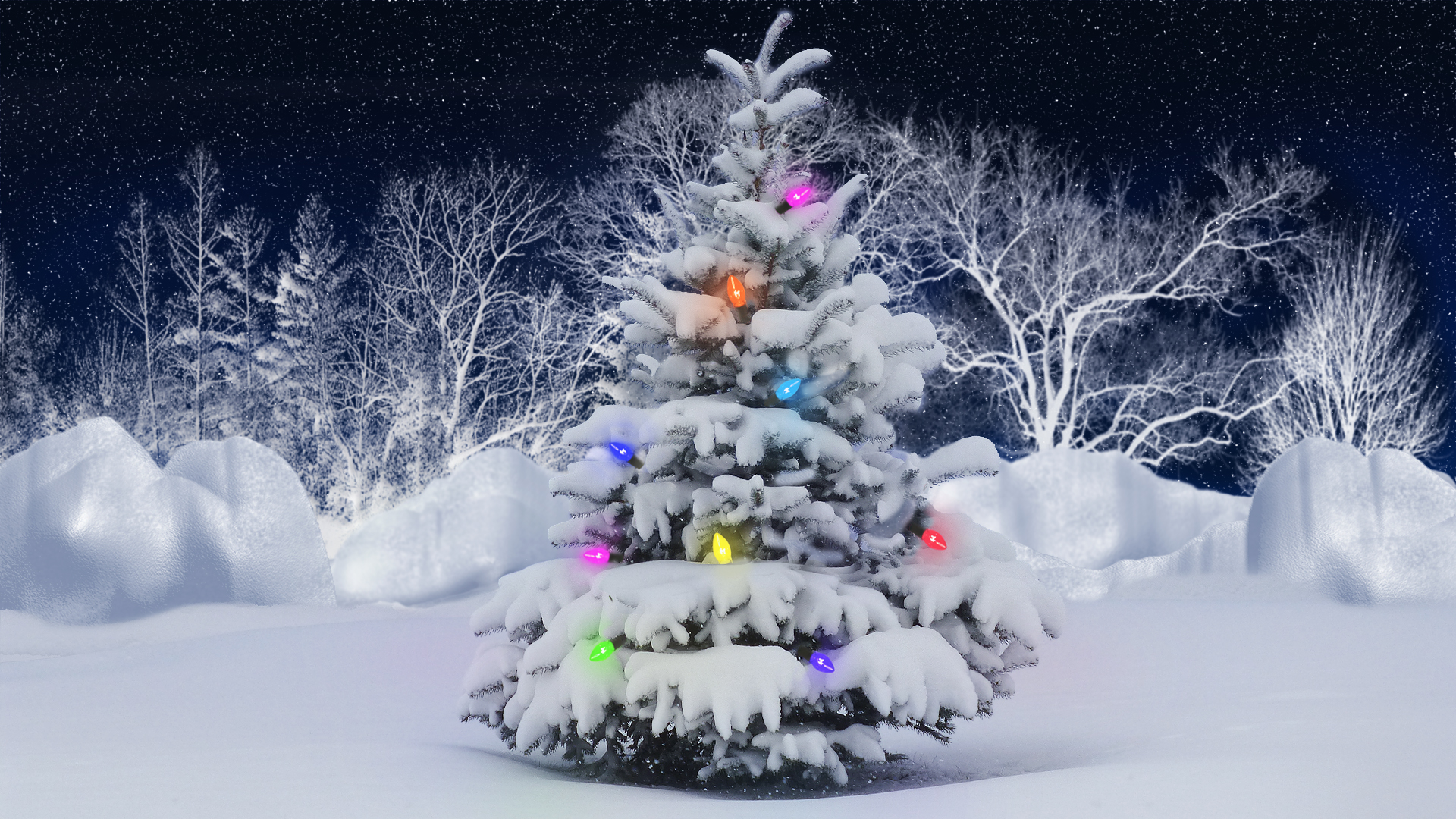Christmas tree Winter wallpaper 1920x1080