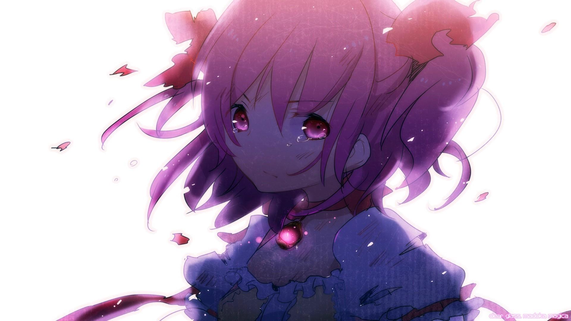 Free Download Tears Mahou Shoujo Madoka Magica Kaname Wallpaper