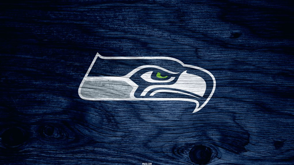 Seattle Seahawks Blue Weathered Wood Wallpaper for Samsung Galaxy Tab 1024x576